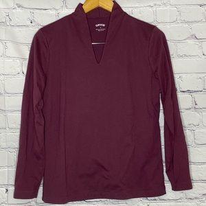 Orvis v neck knit long sleeve sz M